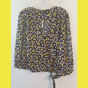 Madewell French Wrap Floral NWT Top Sz XL